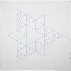 #377 Triangular architecture – Try to interpret this as 3D openings! – A new minimal geometric composition each day