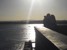 Eu não sei quem é esse casal, mas o lance tava pegado no pôr-do-sol do Gasômetro