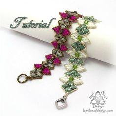Tutorial Silky Snowdrop Bracelet Silky Beads by IceniBeadDesign