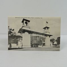 Vintage Photo Postcard - Entrance to Fountain Ferry Park - PC209 - Antique Photo Tintype - Entrance to Fountain Ferry Park Louisville Kentucky Published by Mac Neil's Books Louisville Kentucky 5-1/4W x 3-3/8H - FOR SALE at www.ClaudiasBargains.com