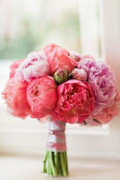 Peony Bridal Bouquet Photo by Ashley Ludaescher Botanic Art