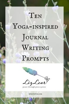 Ten yoga journal writing prompts for inner peace and harmony. Free journal jar printable.