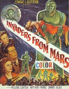 Invaders From Mars -- hard to imagine a more perfect kids movie: all the nightmares are rolled into one -- literally.