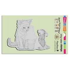 Stampendous Cling Stamp ICE CREAM KITTY Rubber UM HMCR59 House Mouse