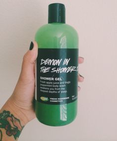 "Demon In The Shower Shower Gel: ""Fresh apple juice and tingly peppermint body wash awakens you from the deepest depths of sleep"""