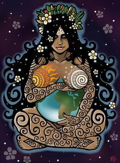 28 new ideas mother nature goddess art births Gaia Goddess, Earth Goddess, Mother Goddess, Goddess Of Nature, Indian Goddess, Sacred Feminine, Green Man, Gods And Goddesses, Archetypes