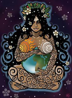 28 new ideas mother nature goddess art births Gaia Goddess, Earth Goddess, Mother Goddess, Goddess Of Nature, Indian Goddess, Arte Fashion, Illustration Mode, Sacred Feminine, Green Man