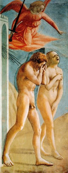28. Wygnanie z raju, Masaccio, kaplica Brancacchich