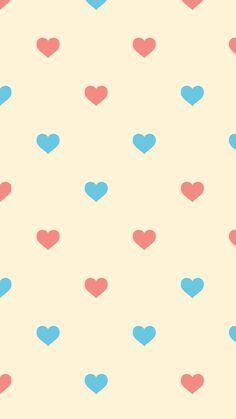Hearts pastel