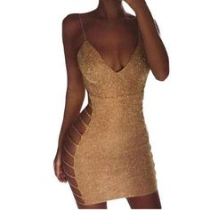 """""""You will be the center of attention when you enter the room wearing this sparkly bodycon dress."""" #sparklybodycondress #womenminidresses"""