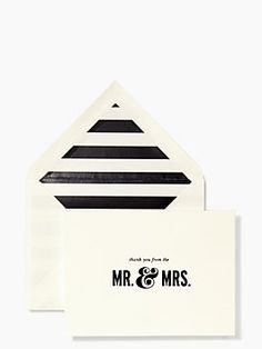 after the big day, express your gratitude in style — the thanks from the mr. and mrs. card set by kate spade new york. (september 2014)