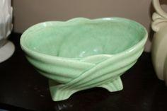 Unmarked Vintage Art Deco Planter Green by AstridsPastTimes, $24.99