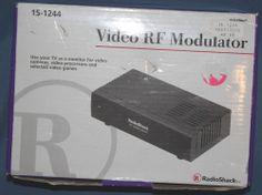 Radio Shack Video RF Modulator 15-1244 Channel 3 or 4 Output