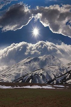 Nature - Mountains - Sun-diamond