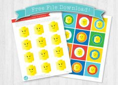 Free File Download - Printable Lego Cupcake Toppers