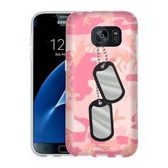 Samsung Galaxy S7 Nameplate on Pink Camouflage Slim Case