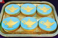 Get a Genie Lamp for decor?  (princess-jasmine-birthday-party-cookies)