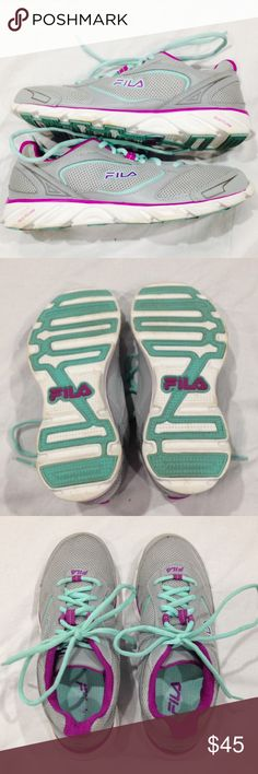 DLS Fila Athletic Sneakers DLS Foam style, in great condition. Laces and soles/bottoms are intact. Super cute colors too! Feel free to make me an offer! Fila Shoes Athletic Shoes