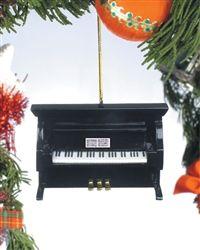 Black Upright Piano Tree Ornament #hiddentreasuresdecorandmore