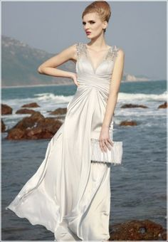 66bf4d0e16c5 Stunning V-Neckline Evening Dress €136 Long Wedding Dresses