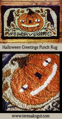 Just finished this #punch #rug this morning! Getting ready for the Holly Hills Primitives show in September!