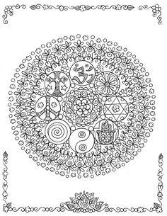 Mandala 452, Coexist mandala #doodle