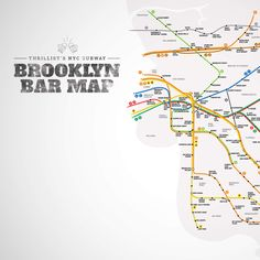 Brooklyn Bar Map -- Wherein we list the best bar within a five-minute walk of basically every subway stop. Yep.