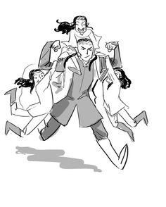 lauren-draws-things:Trying out some elfdad doodles (Happy dad day yay) Tolkien Hobbit, Tolkien Books, Lotr, The Hobbit, Thranduil, Legolas, Cartoon Drawings, Cute Drawings, Happy Dad Day