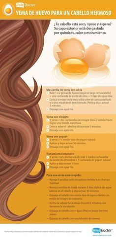 La yema de un huevo tiene más beneficios para tu cabello de los que te imaginas. | 21 Guías visuales que harán que tu cabello se vea sensacional todos los días