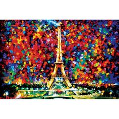 """East Urban Home 'Paris of My Dreams' by Leonid Afremov Painting Print on Wrapped Canvas Size: 12"""" H x 18"""" W x 1.5"""" D"""