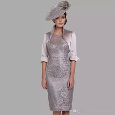 Grey Silver Tea Length Plus Size Mother Of The Bride Dresses With Jacket Sheer Cap Sleeve Lace Formal Evening Dress For Wedding Party Mother of the Bride Dresses Plus Size Mother Of The Bride Dresses Tea Length Mother Of The Bride Dresses Online with $149.72/Piece on Fashionhouse2020's Store | DHgate.com