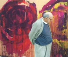 """A portrait of Cy Twombly taken in 2008 inside his Gaeta, Italy studio 