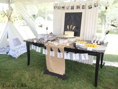 Dessert table at a tribal birthday party! See more party ideas at CatchMyParty.com!