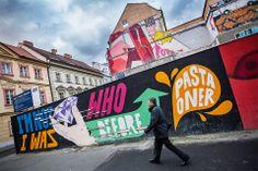 Mural by Czech artist Pasta Oner on Národní třída PHOTO: Honza Zima