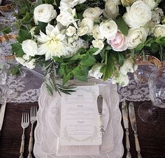 Place setting embellishments, pretty and dreamy
