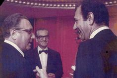 Henry Kissinger Secretary of State, Shah of Iran and Ambassador Ardeshir Zahedi 1973