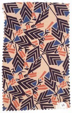 Print + Pattern >> Textile sample Josef Hoffmann, 1920