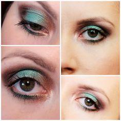 Makijaż z zielonym akcentem