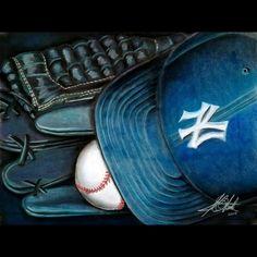 Yankees Still Life. Pastel on Paper. Soft Pastel Art, Pastel Drawing, Insta Art, New Art, Cowboy Hats, Art Gallery, Artsy, Display, Instagram Posts