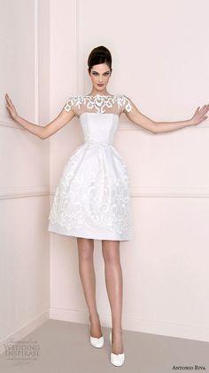 Short Wedding Dresses With Classic Style - Antonio Riva via Wedding Inspirasi