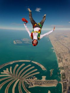 over dubai palm islands