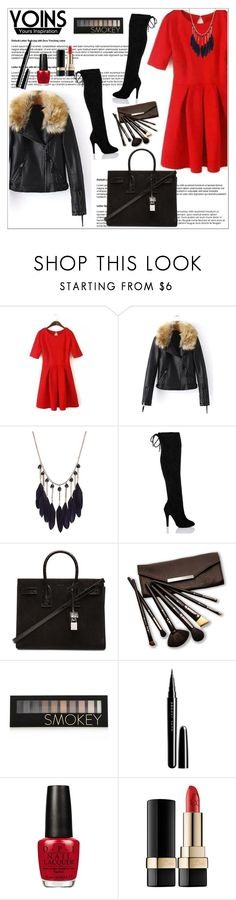 """""""Yoins"""" by aida-nurkovic ❤ liked on Polyvore featuring Yves Saint Laurent, Borghese, Forever 21, Marc Jacobs, OPI and Dolce&Gabbana"""