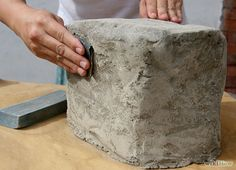 Make Fake Rocks with Concrete