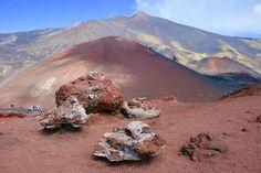 Paisaje lunar del volcán Etna, Sicilia
