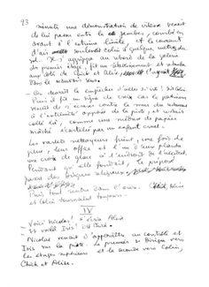 page 23 du manuscrit original de L'Écume des jours de Boris Vian © editions des Saints-pères - 2013