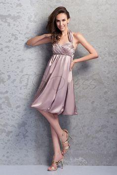 Pleats A-Line Halter Sweetheart Meckline Mini-Length Renata's Bridesmaid Dress - comes in royal blue!