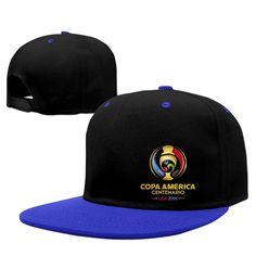 d0a5926f8cd 2016 Copa America Logo USA 2016 USMNT Men Flexible Baseball Snapback Hat  RoyalBlue at Amazon Men s Clothing store