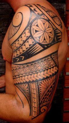Arm Tattoo of Maori Polynesian style for Men