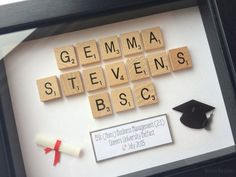 Graduation Gift Personalised Scrabble by TheLittleBlueJumper.