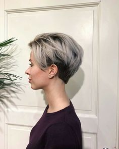 Short hairstyles - 26 beautiful and elegant haircuts - Page 19 Pixie Hairstyles, Pixie Haircut, Cool Hairstyles, Girl Short Hair, Short Hair Cuts, Undercut Asymmetrical Pixie, Undercut Pixie, Medium Hair Styles, Curly Hair Styles